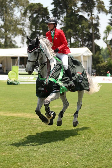 Canadian show jumper Lizzie Gingras Photo by Cealy Tetley