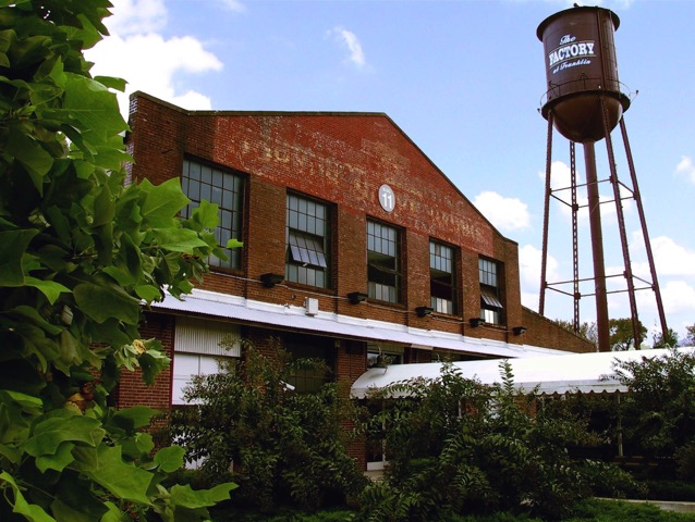Once a mattress factory, The Factory is now home to shops, fine dining and live music performances.