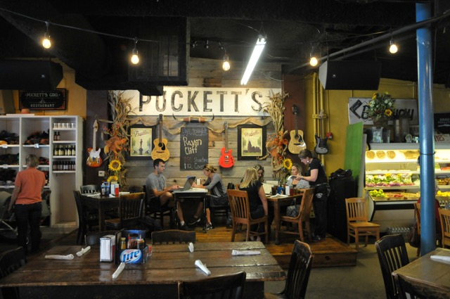 Puckett's in Franklin is a combination eatery, grocery store and live music venue.