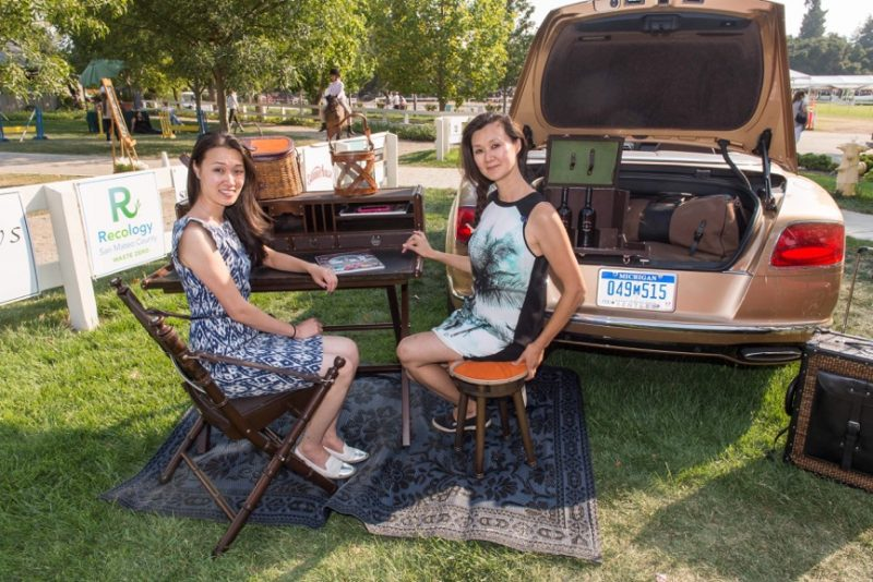 The Bentley and Ella Tailgate Party with co-hosts Melissa Lu and Lavinia Branden of Equestrian Lifestyle Luxury Art (ELLA) at the Menlo Charity Horse Show. ELLA is located in Palo Alto's Town and Country Village. Photo by Drew Altizer