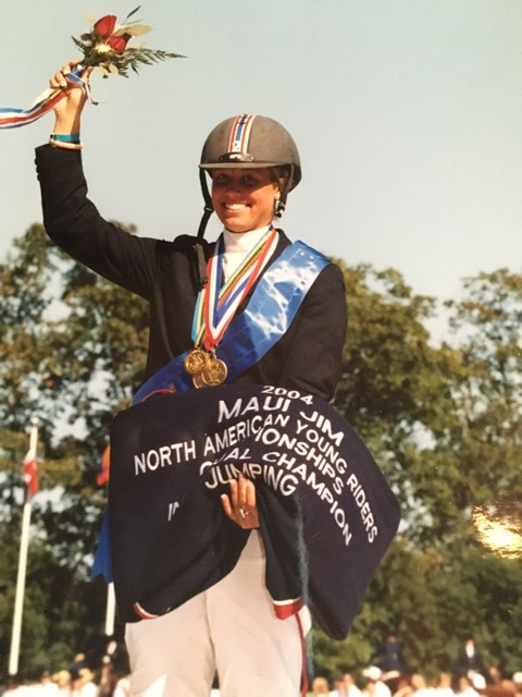 Caitlyn's career highlights include team and individual gold at the North American Young Rider Championships. Photo courtesy of Caitlyn Shiels