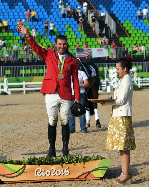 Phillip Dutton and Mighty Nice brought home the bronze medal