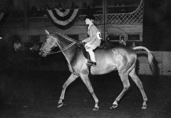 Danny and Susie competing in 1959 at The Saddle and Bridle Club — which is not The Buffalo Therapeutic Riding Center, Inc.