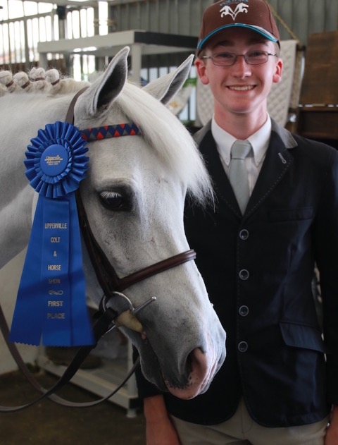 Bailey Doloff — winner of the Laura Pickett Trophy for Excellence in Horsemanship. Photo courtesy of Bailey Doloff