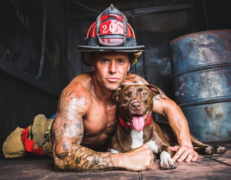 Dustin Ford and Caityln – a dog who becamethe face of anti-cruelty efforts across the country after she was found in a North Charleston neighborhood with her muzzle wrapped in electrical tape.
