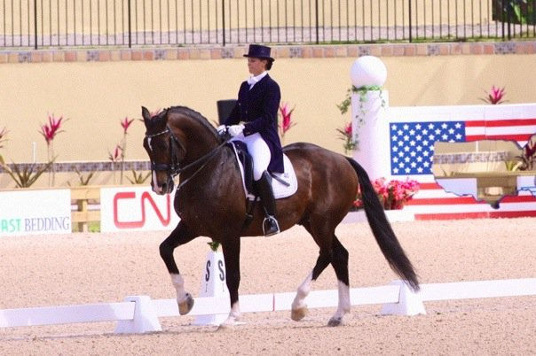 Liz was the youngest ever competitor to compete at the World Dressage Masters. Photo courtesy of Liz Austin