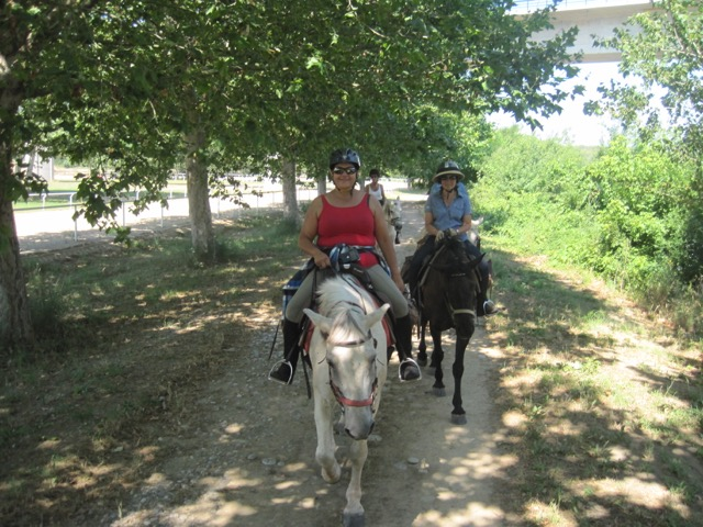 Prio to her cancer diagnosis, Lou traveled around the world on riding vacations, including an adventure in Spain (pictured). Photo courtesy of Lou Cirignano