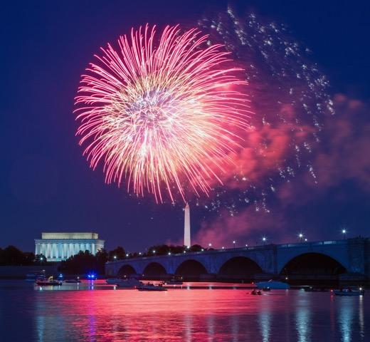 Fireworks over Washington, D.C.