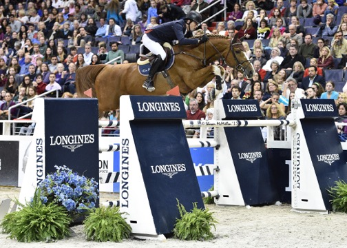 Tens of thousands of spectators come to WIHS every year, and last year they saw Harrie Smolders of The Netherlands and Emerald win the $125,000 Longines FEI World Cup™ Jumping Washington, presented by Events DC, for the President's Cup. Photo by Shawn McMillen Photography