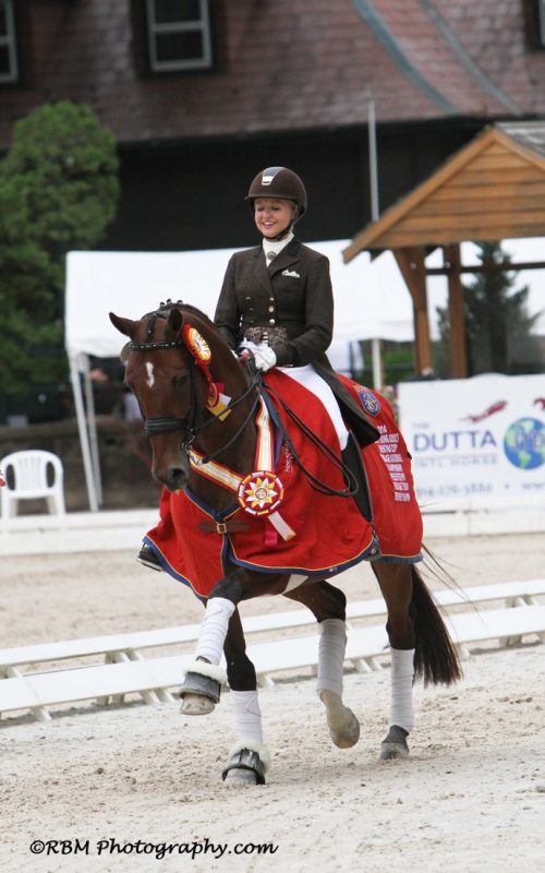 Katie and Toy Soldier were Reserve Champions in the 2014 Brentina Cup. Photo by RBM Photography