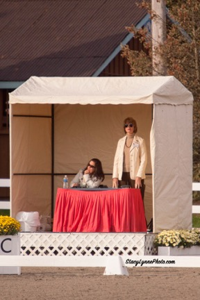 Jeanne judging at Dressage at Devon Photo courtesy of Jeanne McDonald