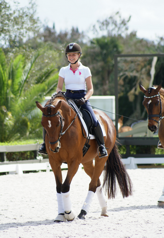 Katie and Toy competing in Wellington, Florida, at in the 2014 Brentina Cup. Photo by RBM Photography
