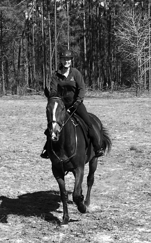 After some back problems, Sasscer is happy to be back in the saddle. Photo courtesy of Sasscer Hill
