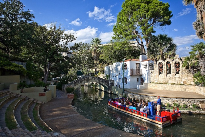 Take a barge tour of the San Antonio River and its many sites. Photo courtesy of VisitSanAntonio.com