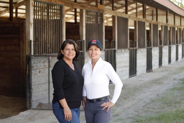 Kim Farrell and Laurie Birnbach — the power behind the success of the Fox Lea Farm horse shows. Photo by Salvatore Brancifort