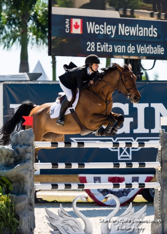 Wesley jumped clear in her Longines World Cup Grand Prix debut at the 2016 Wellington Masters. Photo by Starting Gate Communications
