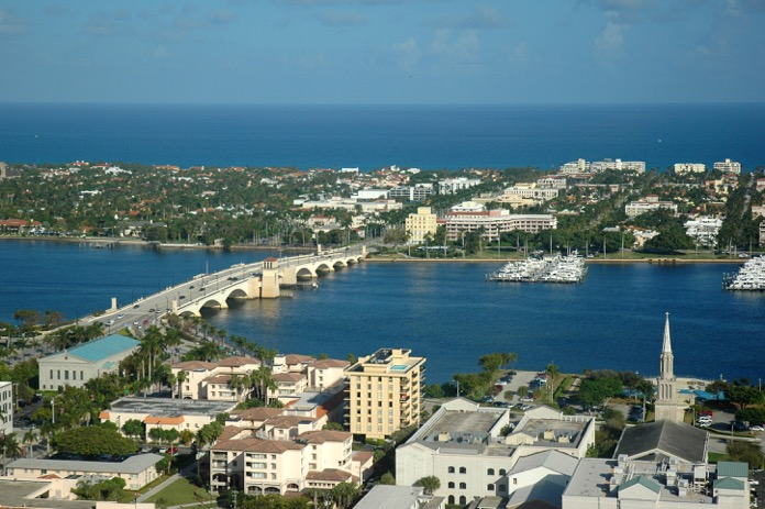 An Aerial View Of Downtown West Palm Beach Courtesy Thepalmbeaches